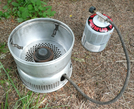 Picture of Trangia with Upper windshield fitted & pot-stands visible