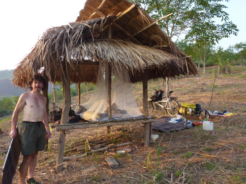 The coolest way to camp in Laos.