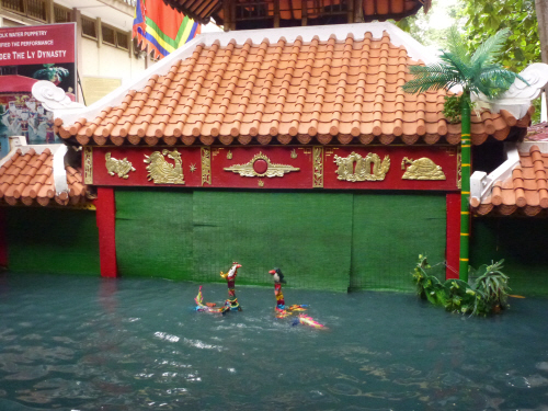 Water puppetry in Saigon's History Museum.