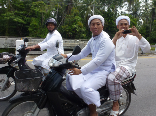 In Pattani and Narathiwat we were often subject to friendly scrutiny.