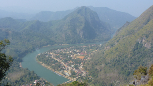 Nong Khiew from the viewpoint.