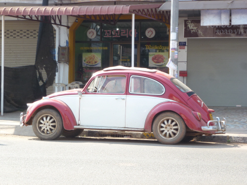 One of the many lovely old beetles we saw around town.