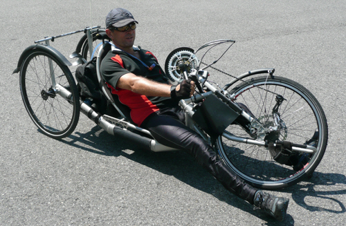 Helpful hand cyclist