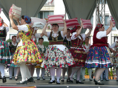 You can't fault a spot of traditional Hungarian cushion-dancing.