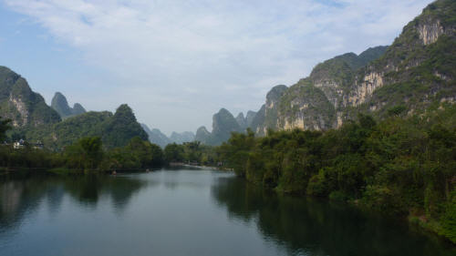 Karst spires rising every which way you look