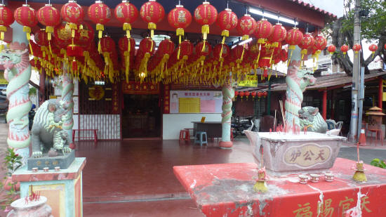 Chinese Clan-house at the jetties area of town, decorated for New Year