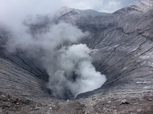 This is what a volcano looks like up close.