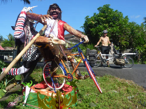 Balinese bicycle idolatry.